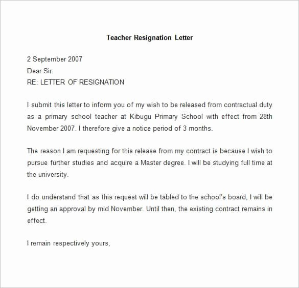 Resignation Letter Template Pdf Unique 69 Resignation Letter Template Word Pdf Ipages