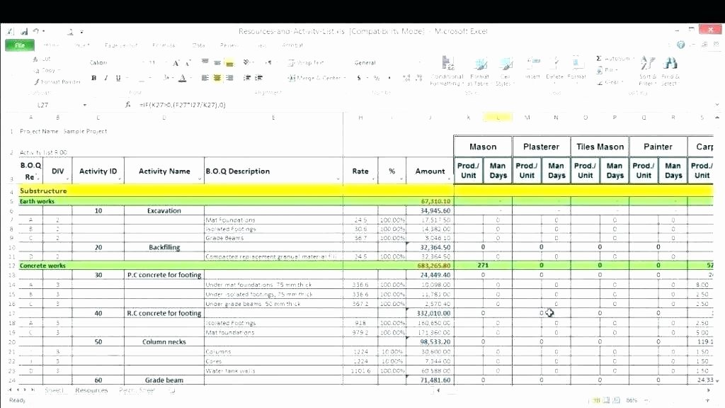 Resource Management Excel Template Inspirational Resource Management Excel Template