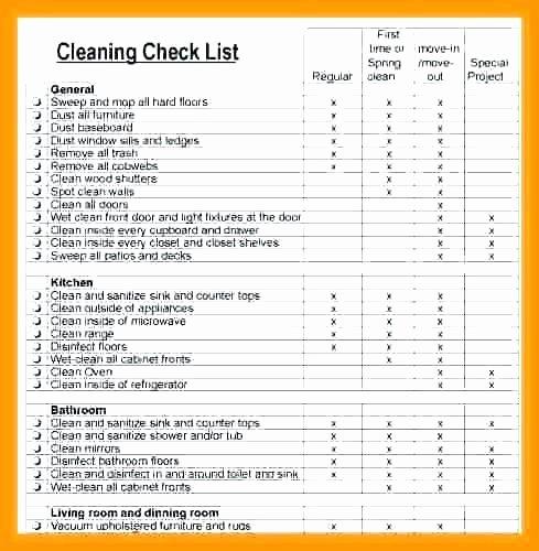 Restaurant Cleaning Checklist Template Elegant Cleaning Checklist for Apartment Latest Bestapartment 2018