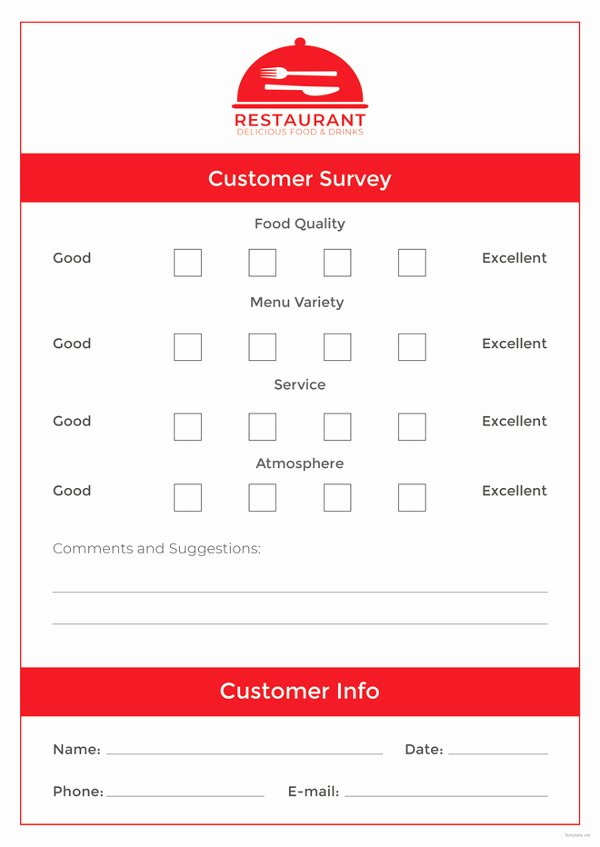 Restaurant Comment Card Template Luxury Ment Card Template – 15 Free Printable Sample Example