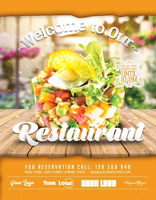 Restaurant Flyer Template Free Awesome Free Restaurant Flyer Template Download Free Flyer