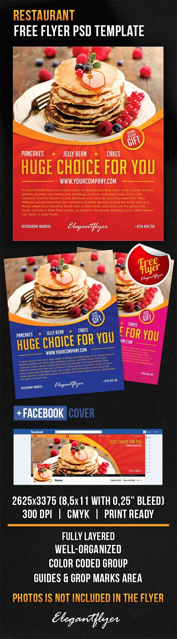 Restaurant Flyer Template Free Awesome Restaurant – Free Flyer Psd Template – by Elegantflyer