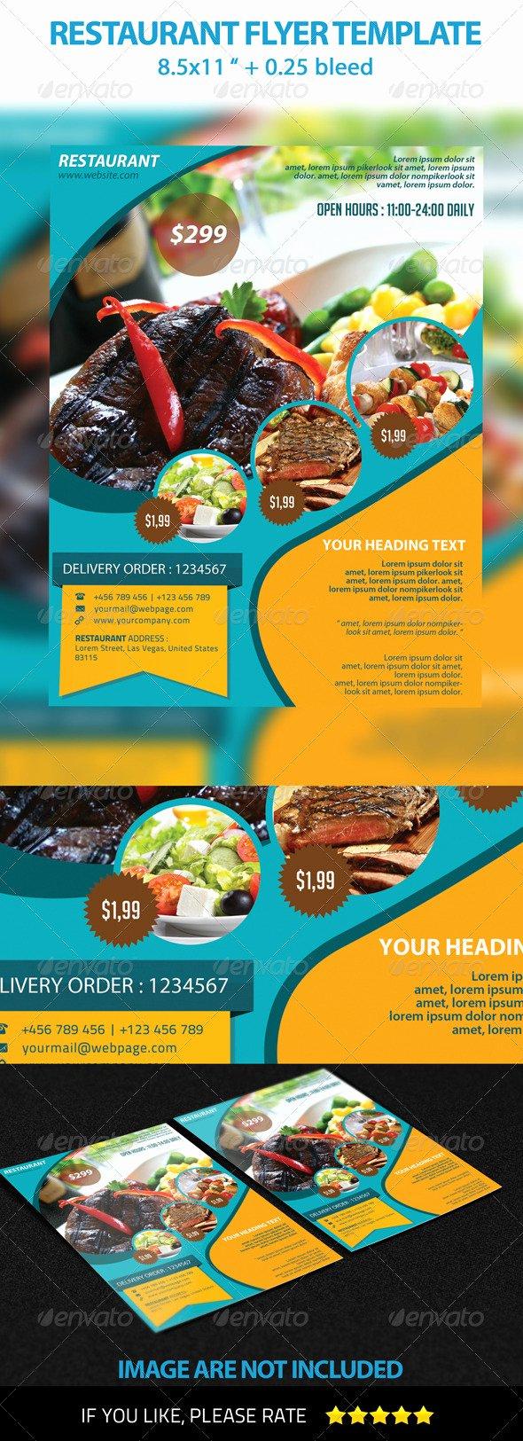 Restaurant Flyer Template Free Best Of Restaurant Flyer Template