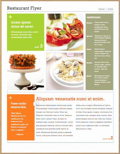 post catering flyer templates free