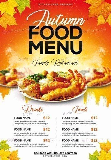 Restaurant Flyer Template Free Fresh Flyers Menu