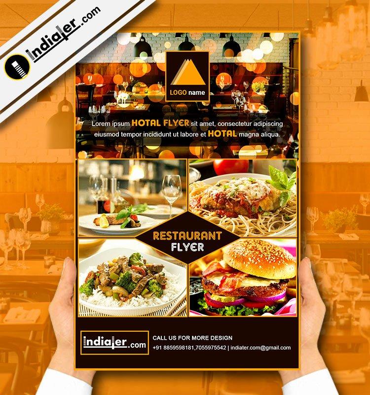 Restaurant Flyer Template Free Fresh Restaurant Flyer Template V 6 Indiater