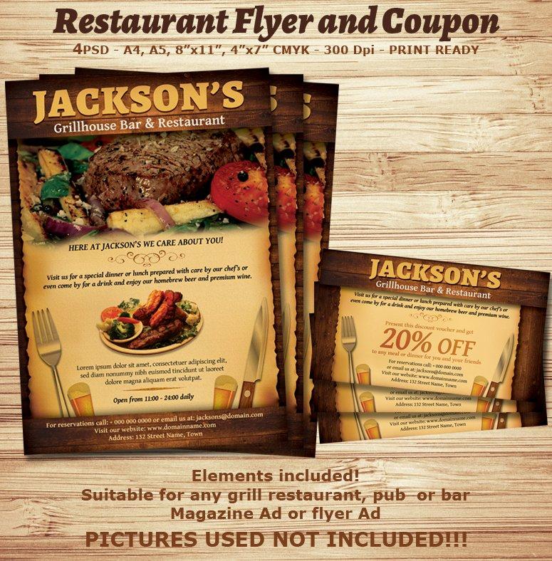 Restaurant Flyer Template Free Lovely Bar and Restaurant Flyer Bing Images