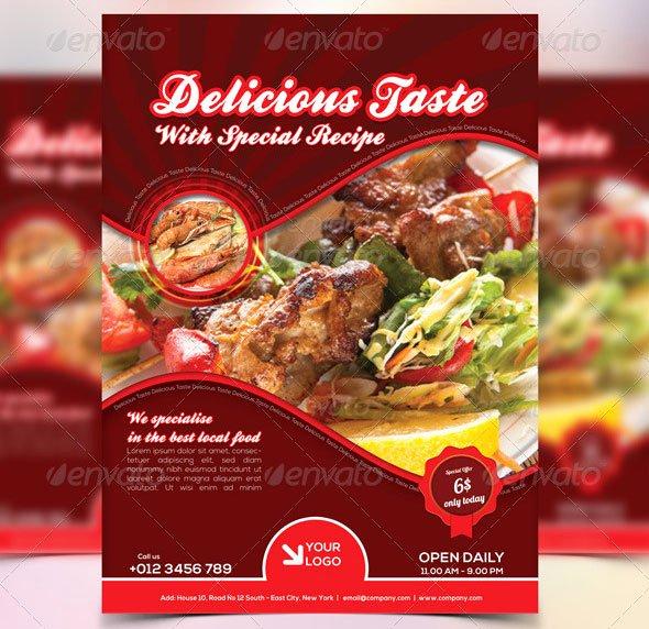 Restaurant Flyer Template Free Luxury 46 Free & Premium Restaurant Flyer Templates Psd