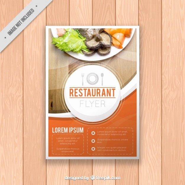 Restaurant Flyer Template Free Luxury Restaurant Brochure Template Vector