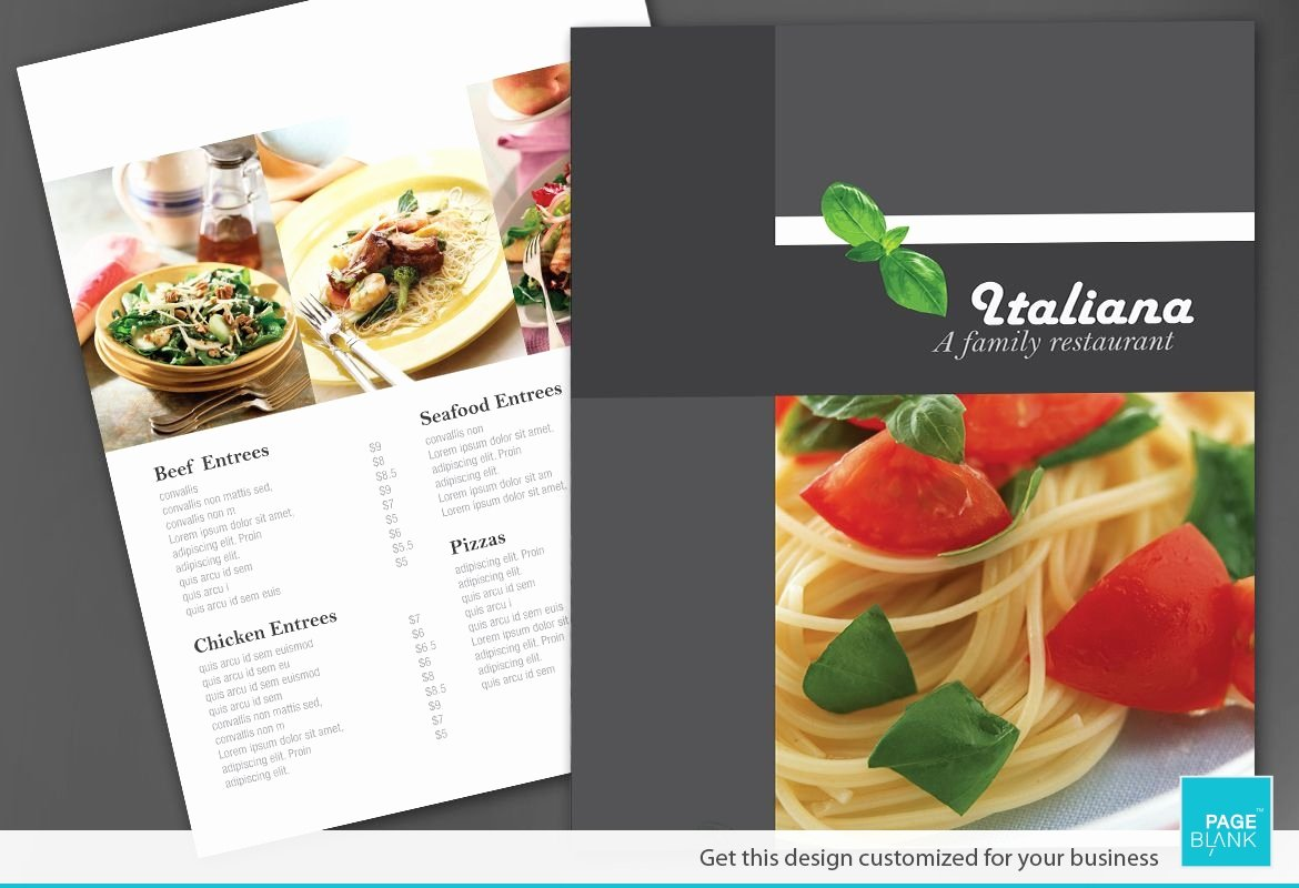 Restaurant Flyer Template Free Unique Flyer Template for Italian Restaurant order Custom Flyer
