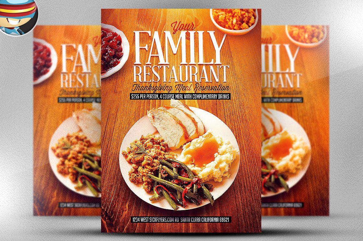 Restaurant Flyer Template Free Unique Thanksgiving Restaurant Template Flyer Templates On