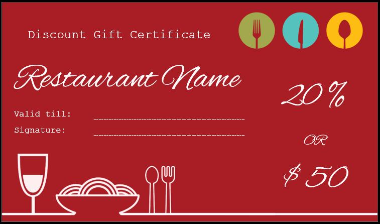 Restaurant Gift Certificate Template Inspirational Gift Certificate Templates