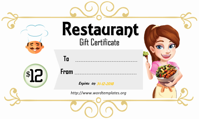 Restaurant Gift Certificate Template New Printable Gift Certificate Templates for 2018 – 15 Free