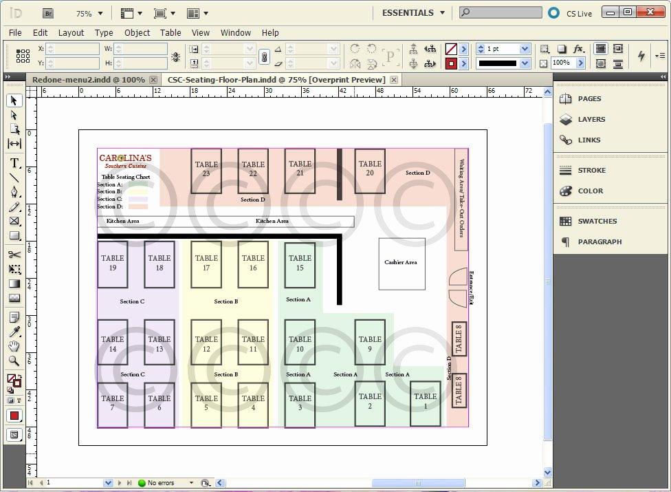 Restaurant Seating Chart Template Elegant Seating Chart for Restaurant