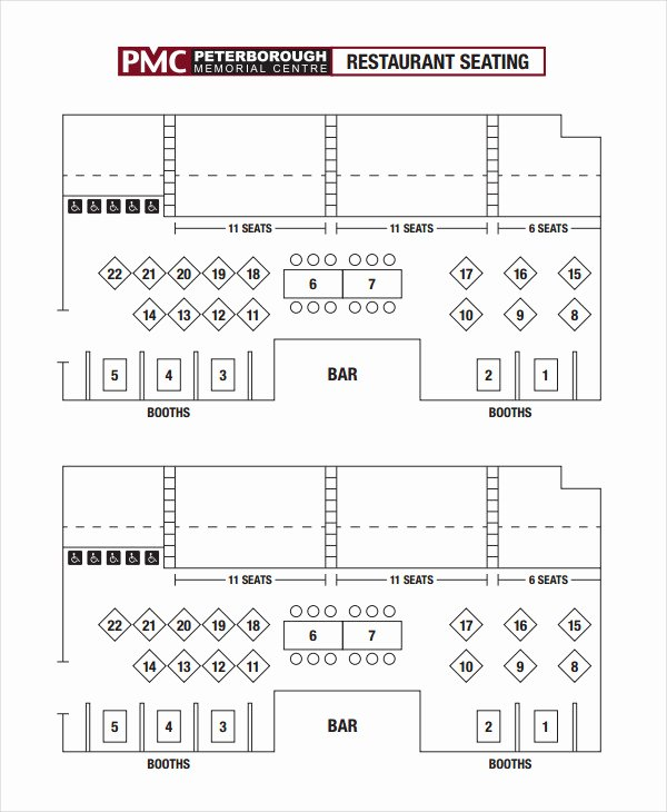 Restaurant Seating Chart Template Luxury 18 Chart Templates