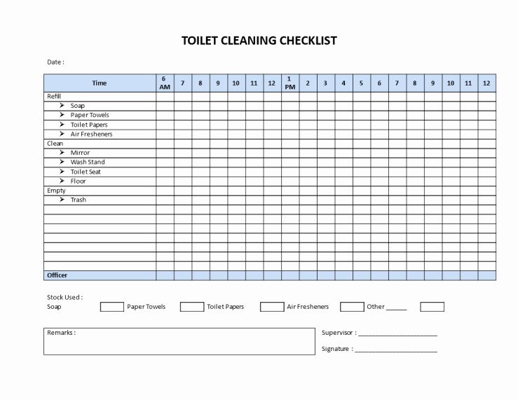 Restroom Cleaning Log Template Beautiful Public Restroom Cleaning Checklists