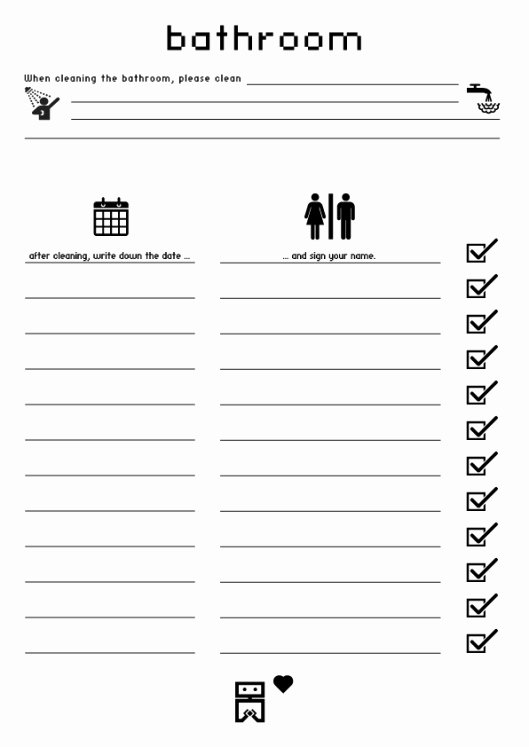 Restroom Cleaning Log Template New Free Bathroom Cleaning Log