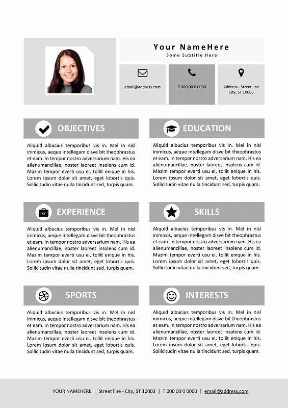 Resume Template for Kids Beautiful My First Resume Template for Kids