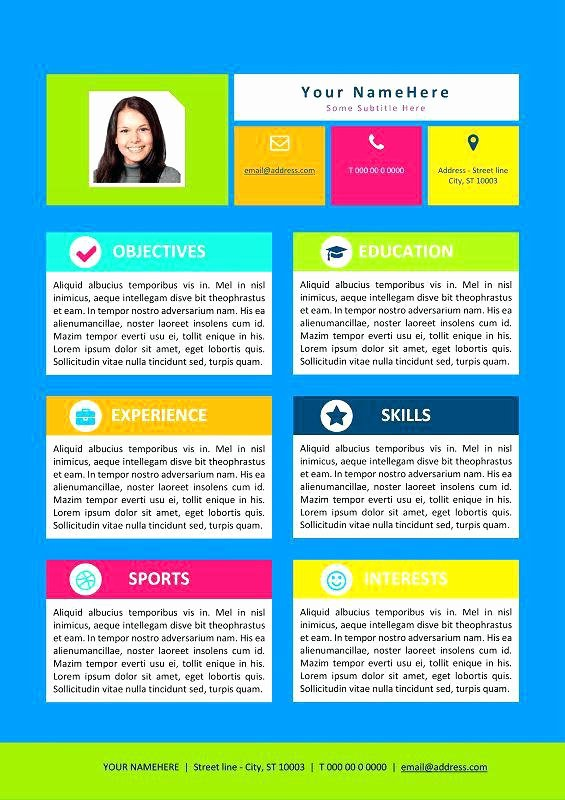 Resume Template for Kids Beautiful Resume Templates for Kids