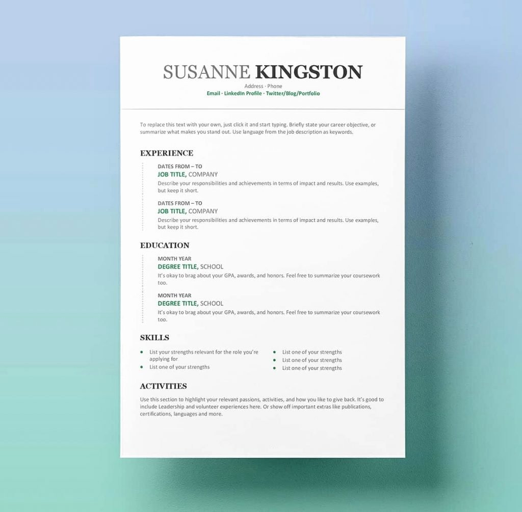 Resume Template for Kids Fresh Free Resume Examples for Students for Kids Tag