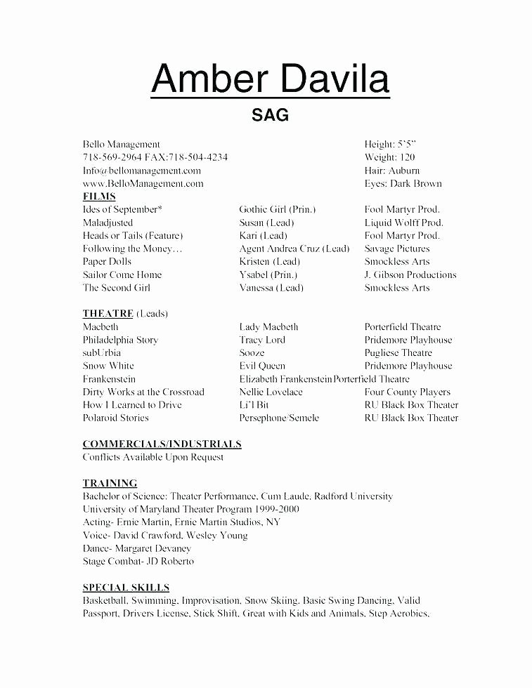 Resume Template for Kids Inspirational Resume Templates for Kids
