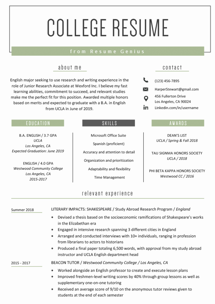 Resume Template for Kids Lovely Free Resume Template Examples for Kids Pdf Tag 43