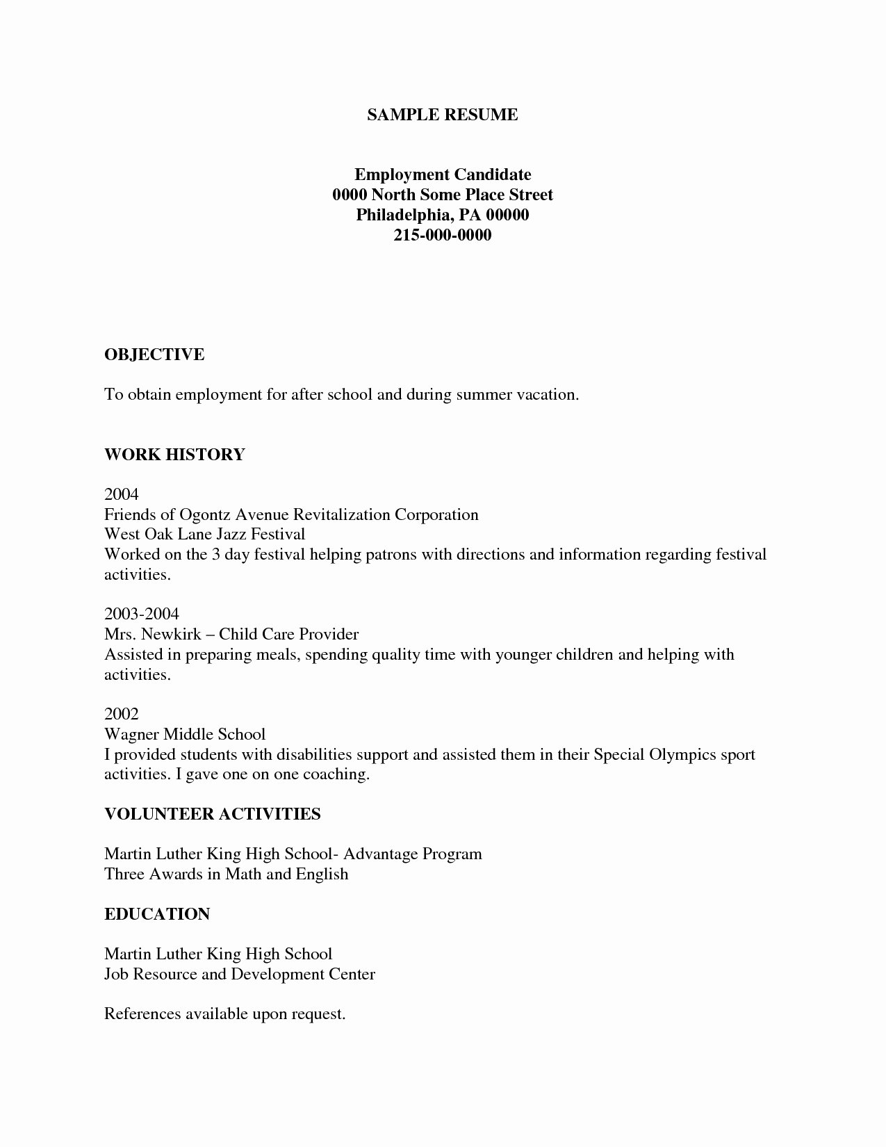 Resume Template for Kids Unique Resume Template for Kids