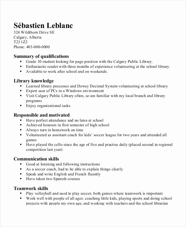 Resume Template for Kids Unique Resume Templates for Kids