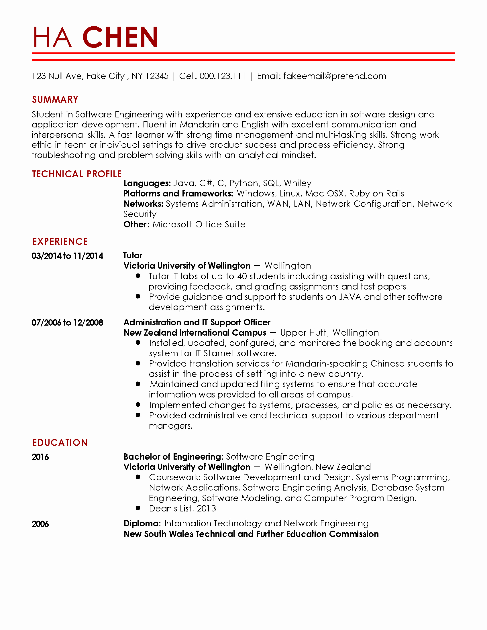 Resume Template software Engineer Lovely Professional Entry Level software Engineer Templates to