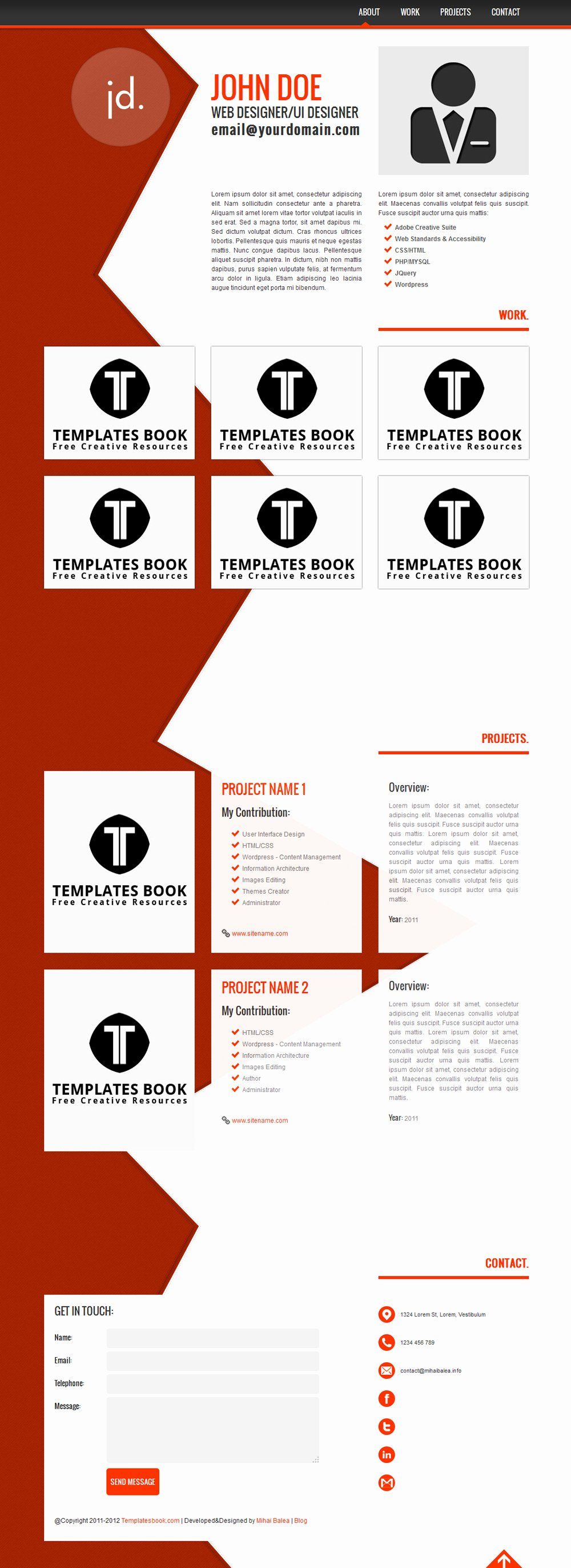 Resume Website Template Free Awesome 15 Best Free Line Resume Cv Website Templates and themes