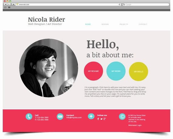 Resume Website Template Free Beautiful Wix Template Free Website Career Pinterest