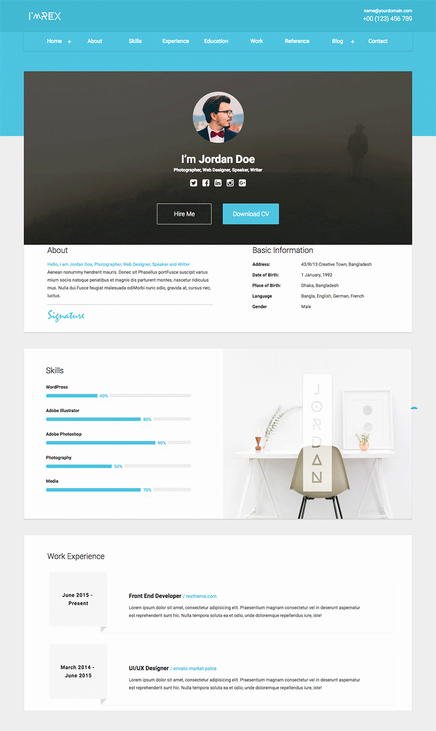 Resume Website Template Free Best Of 18 Best HTML Resume Templates for Awesome Personal