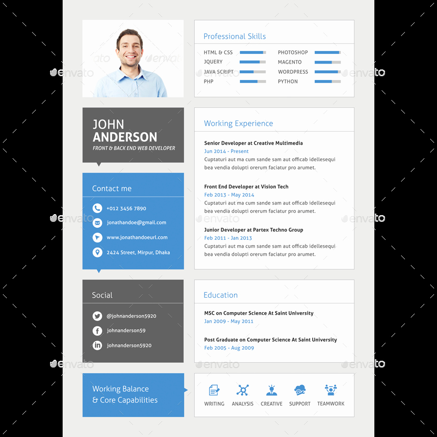 Resume Website Template Free Fresh 30 Best Developer software Engineer Resume Templates