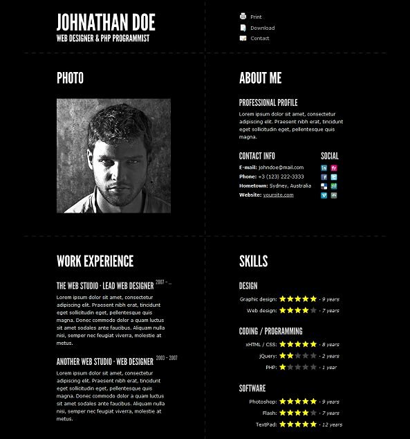 Resume Website Template Free New This Resume Website Template Offers A Built In Ajax PHP