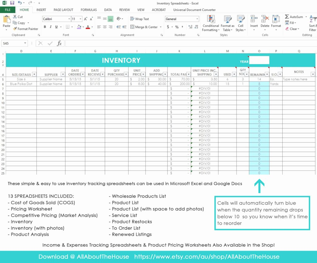 Retail Inventory Excel Template Awesome My Simple and Easy Method for Tracking Product Inventory