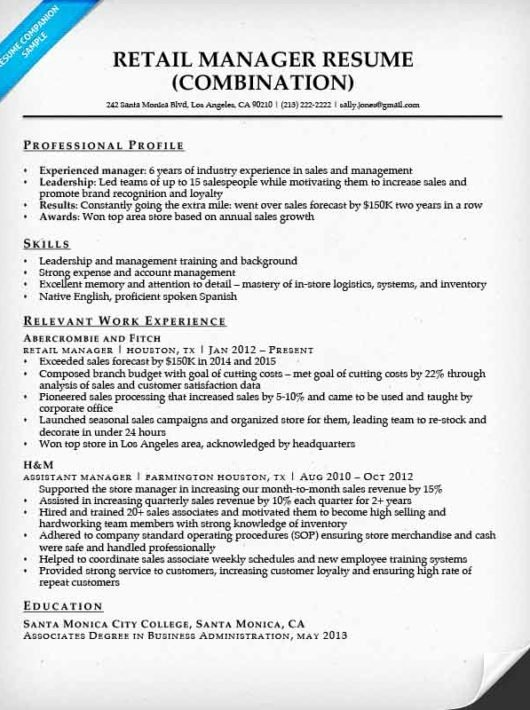 Retail Manager Resume Template Awesome Retail Manager Resume Sample & Writing Tips
