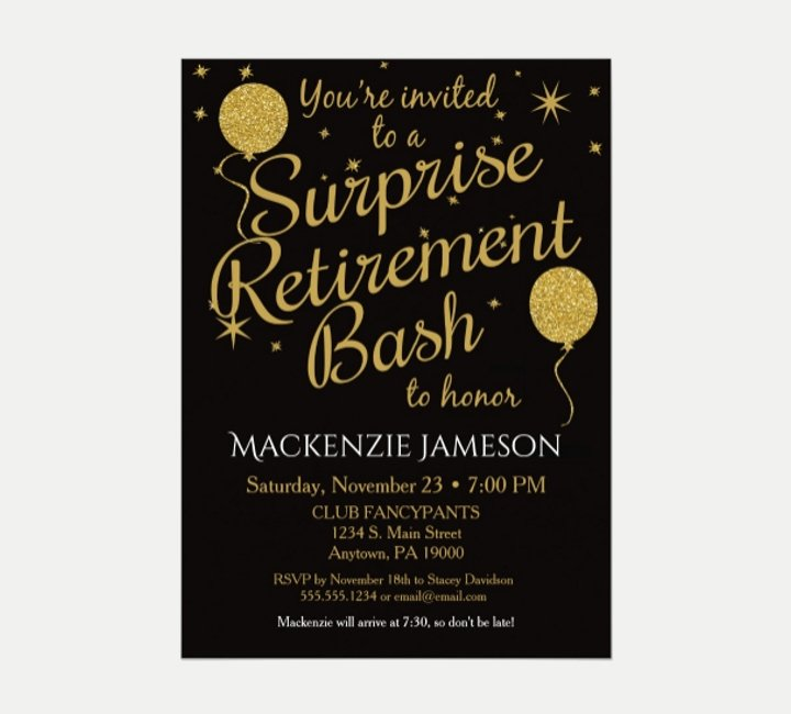 Retirement Flyer Free Template Elegant 15 attractive Retirement Invitation Designs Psd Ai