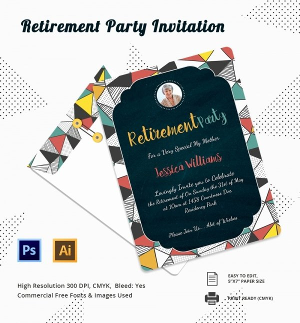 Retirement Flyer Free Template Elegant Retirement Party Invitation Template 36 Free Psd format