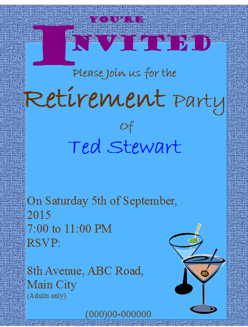 Retirement Flyer Free Template Inspirational Retirement Party Flyer Invitation