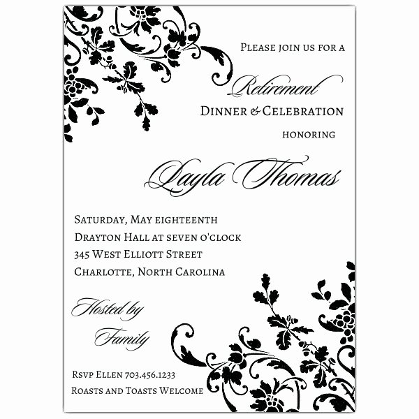 Retirement Flyer Free Template Luxury Floral Stripe Retirement Invitations