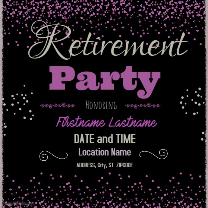 Retirement Flyer Template Free Awesome Retirement Party Template