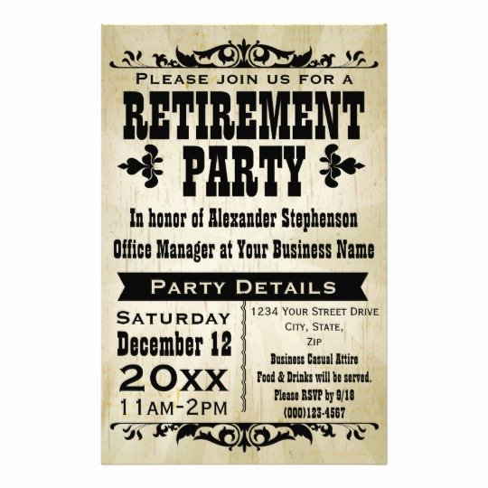 retirement template flyer