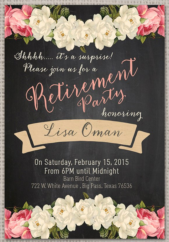Retirement Flyer Template Free Elegant Retirement Party Invitation 7 Premium Download