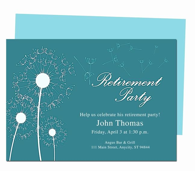 Retirement Flyer Template Free Elegant Winds Retirement Party Invitation Templates Diy Printable