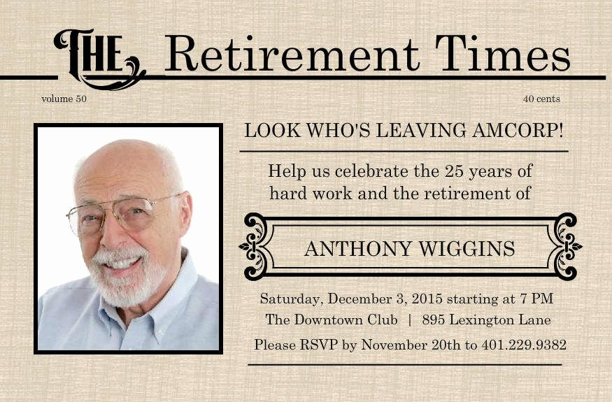 Retirement Flyer Template Free Fresh Retirement Flyer Template Free