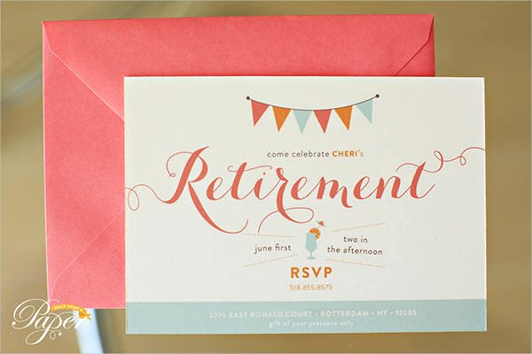 Retirement Flyer Template Free Lovely Free Party Invitation