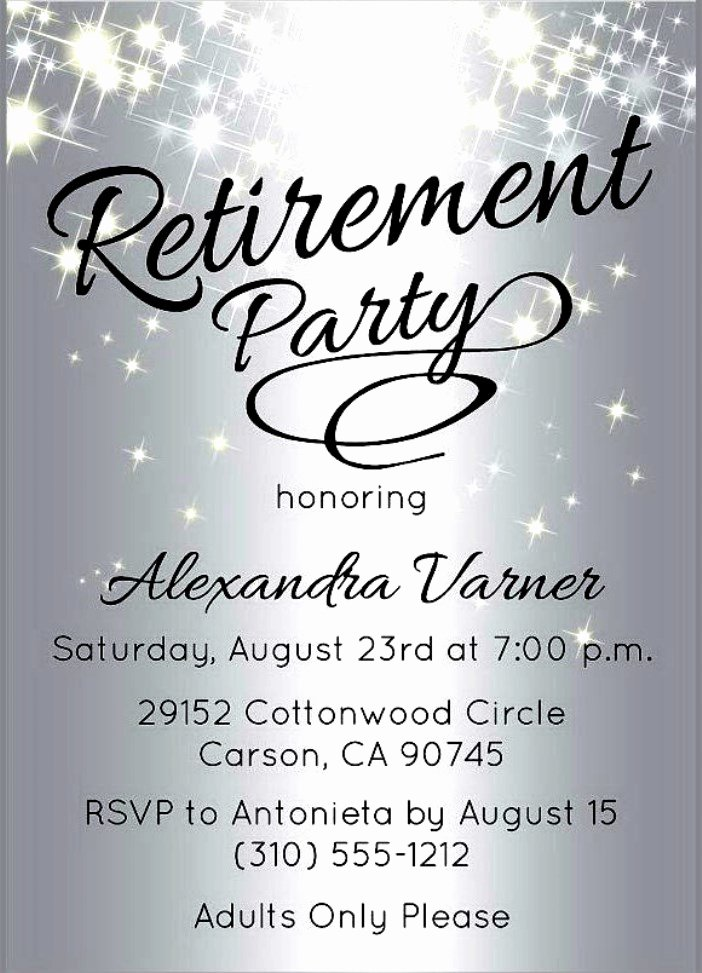 Retirement Flyer Template Free Unique Retirement Party Invitation Template Free