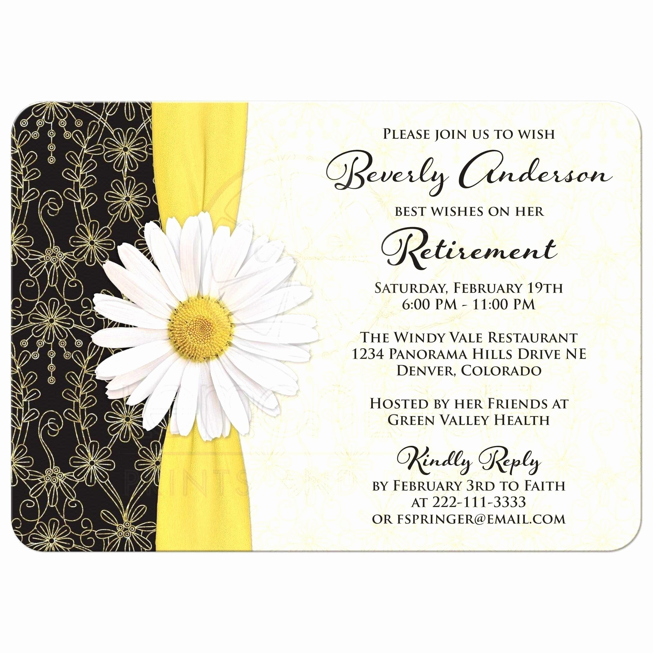 Retirement Invitation Template Free Beautiful Free Invitation Templates for Retirement Party New