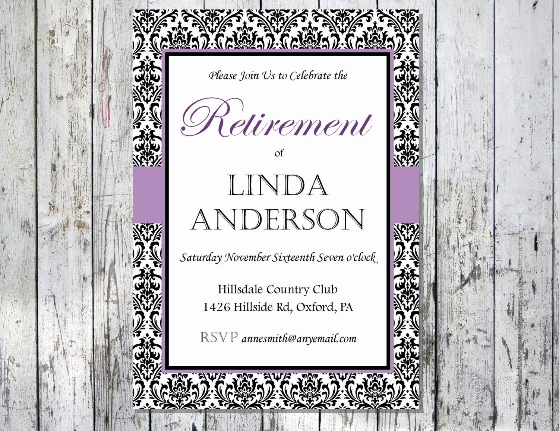 Retirement Invitation Template Free Beautiful Unavailable Listing On Etsy