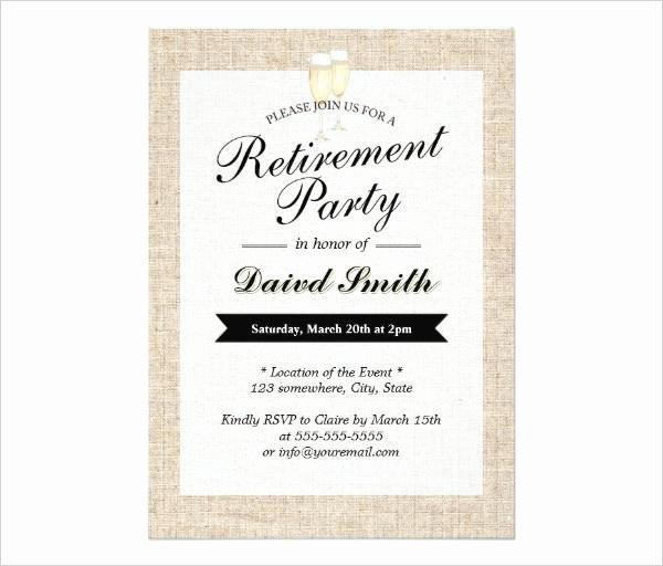 Retirement Invitation Template Free Best Of 36 Retirement Party Invitation Templates Free Download